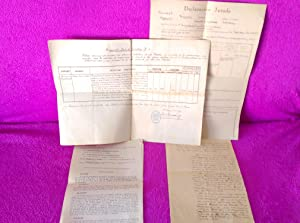 6 DOCUMENTOS Y MANUSCRITOS RELACIONADOS CON LA GUERRA CIVIL, MILITAR, RAROS 1936, 1939