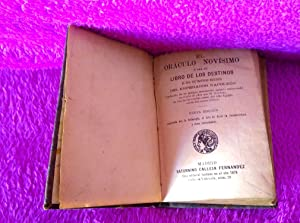 EL ORACULO NOVISIMO, LIBRO DE LOS DESTINOS, NAPOLEON, M. SONNINI, HERMAN KIRCHENHOFFER 1875: ...