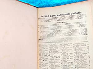 INDICE GEOGRAFICO DEL ANUARIO BAILLY BAYLLIERE RIERA 1915: BAILLY BAYLLIERE RIERA
