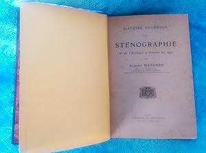 HISTOIRE GENERALE DE LA STENOGRAPHIE, ALBERT NAVARRE 1915: ALBERT NAVARRE