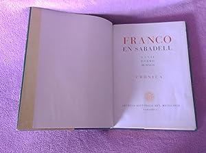 FRANCO EN SABADELL, ARCHIVO HISTORICO MUNICIPAL 1942: ARCHIVO HISTORICO MUNICIPAL