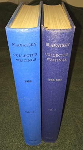 HELENA PETROVNA BLAVATSKY, COLLESTED WRITINGS VOL IX y X THEOSOPHICAL 1888, 89