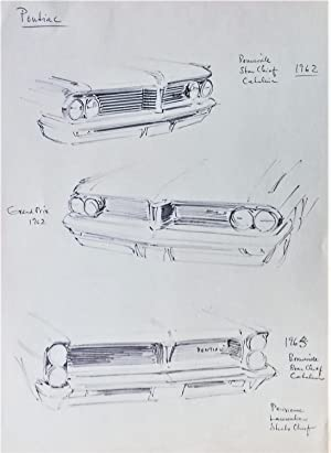 PONTIAC BONNEVILLE 1962, ORIGINAL SKETCH / DRAWING BY GUNNAR A SJOGREN GAS