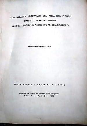 """Comunidades vegetales del área del fiordo Parry, Tierra del Fuego ( Parque Nacional """" ..."""