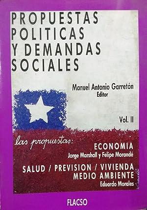 Propuestas políticas y demandas sociales. 2 Tomos: Garretón, Manuel Antonio ( Editor )