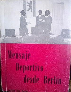 Mensaje deportivo desde Berlín: Díaz Gerding, Armando