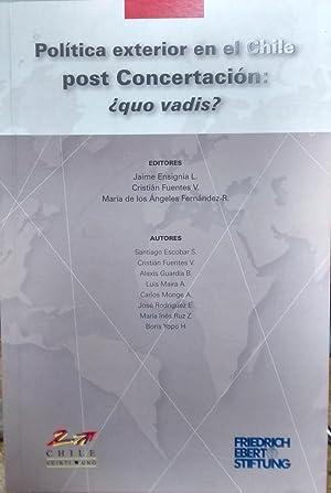 Política exterior en el Chile post Concertación: Ensignia L., Jaime