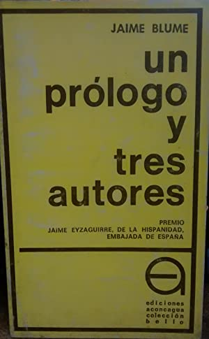 Un prólogo y tres autores ( Jorge: Blume, Jaime