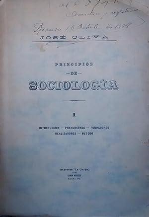 Principios de Sociología. Tomo primero.- Introducción -: Oliva, José