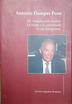 Antonio Domper Pons. De Aragón a los: Aguirre Romero, Javiera