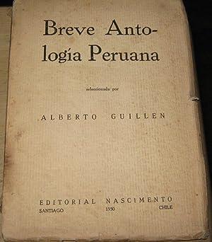 Breve antología peruana: Guillén, Alberto (1897-)(Seleccionador)