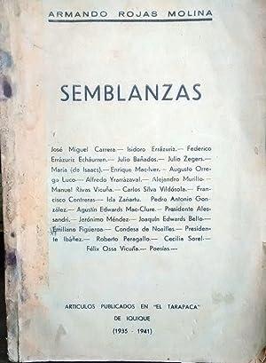 """Semblanzas. Artículos publicados en """" El Tarapacá: Rojas Molina, Armando"""
