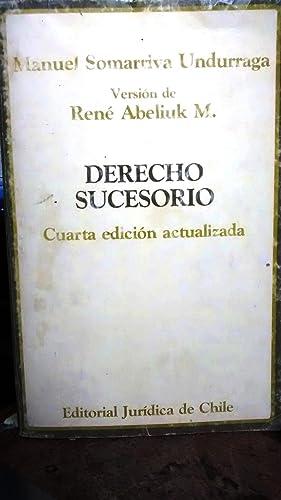Derecho Sucesorio. Versión de René Abeliuk M.: Somarriva Undurraga, Manuel