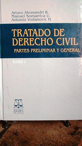 Tratado de Derecho Civil. Parte Preliminar y General. 2 Tomos: Alessandri R., Arturo - Somarriva U....