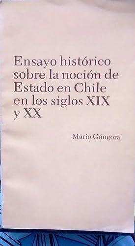 Resultado de imagen para 1985 Mario Góngora, la noción de Estado en Chile en los siglos XIX y XX