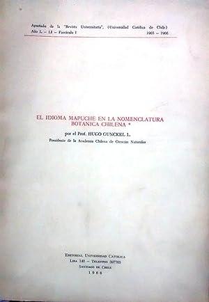 El idioma mapuche en la nomenclatura botánica: Gunckel Lüer, Hugo