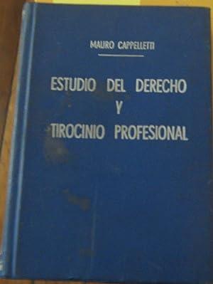 Estudio del Derecho y Tirocinio Profesional en: Cappelletti, Mauro (