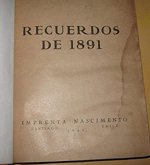 Recuerdos de 1891: Cox Méndez, Ricardo ( 1870 - 1952 )