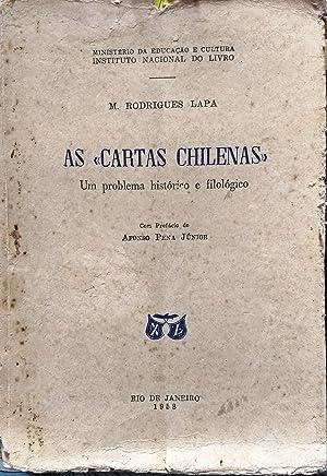 """As """" Cartas chilenas """". Um problema: Rodríguez Lapa, Manuel"""