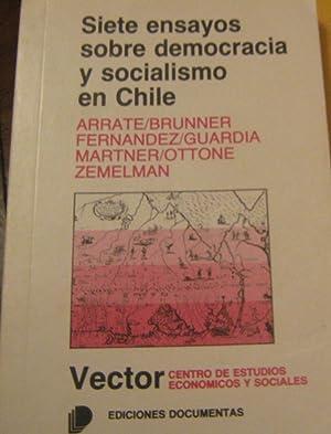 Siete ensayos sobre democracia y socialismo en: Arrate Jorge, Brunner