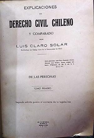 Explicaciones de Derecho Civil Chileno y Comparado.: Claro Solar, Luis