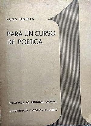 Para un curso de poética. Portada de Jorge Swinburn: Montes Brunet, Hugo ( Compilador )