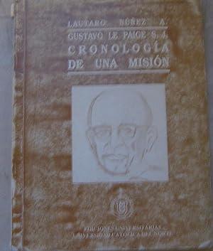 Gustavo Le Paige S.J. : cronología de: Núñez Atencio, Lautaro