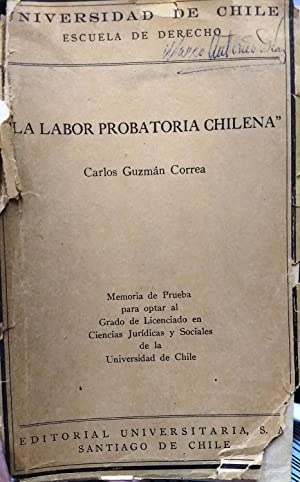 La labor probatoria chilena: Guzmán Correa, Carlos