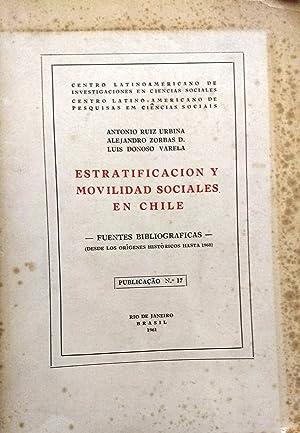 Estratitificación y movilidad sociales en Chile. Fuentes: Ruíz Urbina, Antonio