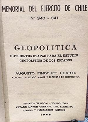 Geopolítica. Diferentes etapas para el estudio geopolítico de los estados. Memorial del Ejército de...