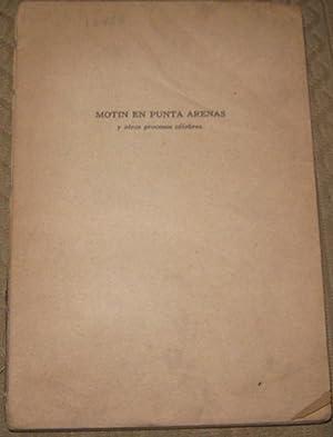 Motin en Punta arenas y otros procesos: Bunster, Enrique (1912-1976)