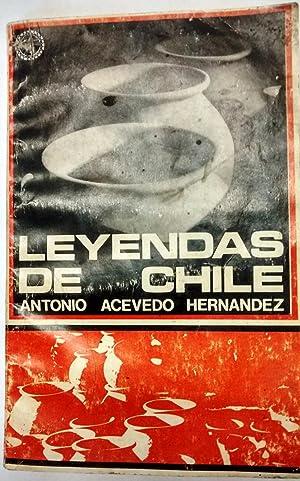 Leyendas de Chile. Prólogo de Mario Cánepa: Acevedo Hernandez, Antonio