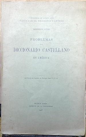 Problemas del Diccionario Castellano en América: Lenz, Rodolfo (1863 - 1938)