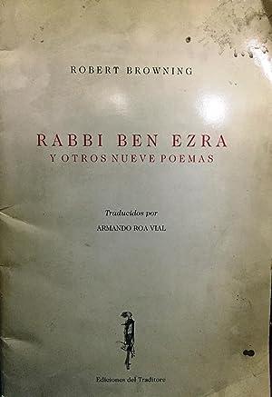 Rabbi Ben Ezra y otros nueve poemas: Browning, Robert (1812