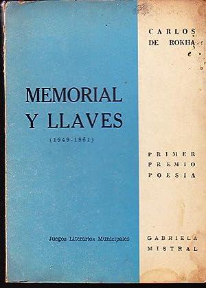 Memorial y llaves ( 1949 - 1861: Rokha, Carlos de