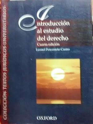 Introducción al estudio del derecho: Pereznieto Castro, Leonel