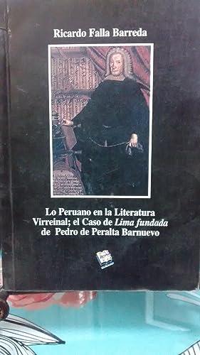 Lo peruano en la Literatura Virreinal ;: Falla Barreda, Ricardo