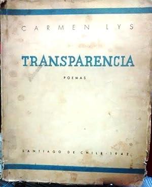 Transparencia. Poemas. Prólogo Juan Ignacio Luca de Tena. Epílogo Rafael Maluenda: ...