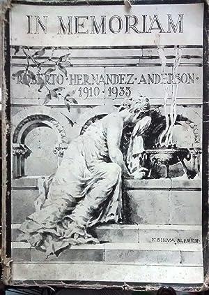 In Memoriam Roberto Hernández-Anderson : 1919 - 1933