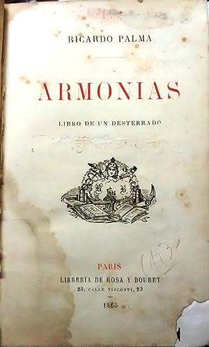 Armonías. Libro de un desterrado: Palma, Ricardo ( 1833 - 1919 )