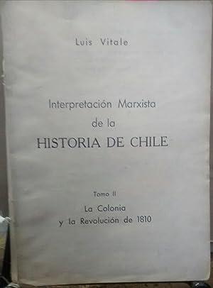 Interpretación marxista de la Historia de Chile.: Vitale, Luis (