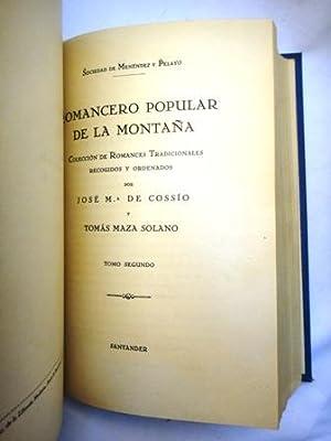 ROMANCERO POPULAR DE LA MONTAÑA (2 tomos en 1 volume) Colección de Romances ...