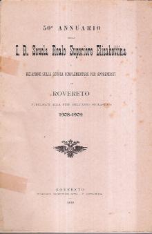 50ANNUARIO I.R. SCUOLA REALE SUPERIORE ELISABETTINA: AA.VV.