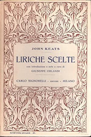 LIRICHE SCELTE: KEATS JOHN