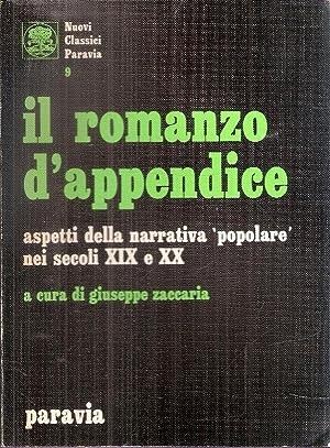 """IL ROMANZO D'APPENDICE ASPETTI DELLA NARRATIVA """"POPOLARE"""": ZACCARIA GIUSEPPE (A"""