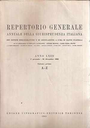 REPERTORIO GENERALE ANNUALE DELLA GIURISPRUDENZA ITALIANA ANNO: AA.VV.