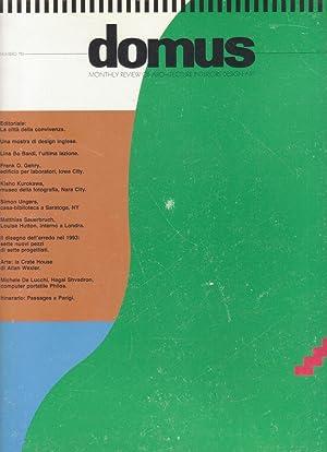 Domus N. 753 Rivista internazionale di progetto. International design review: Domus Rivista ...