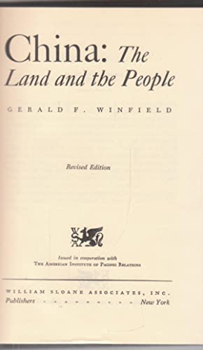China: the land and the pepole