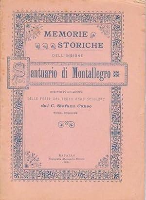 Memorie storiche dell'insigne Santuario di Montallegro scritte: Cuneo Stefano