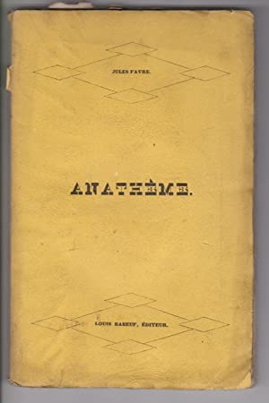 ANATHEME: FAVRE (J.)